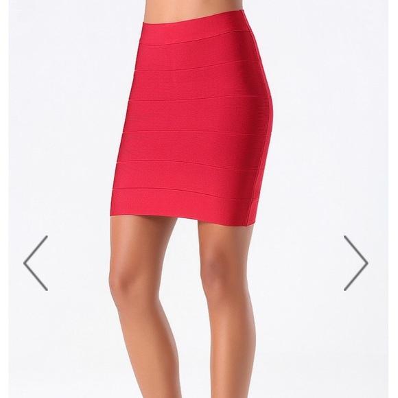 8d732fc446e5 bebe Dresses & Skirts - Bebe red bandage skirt